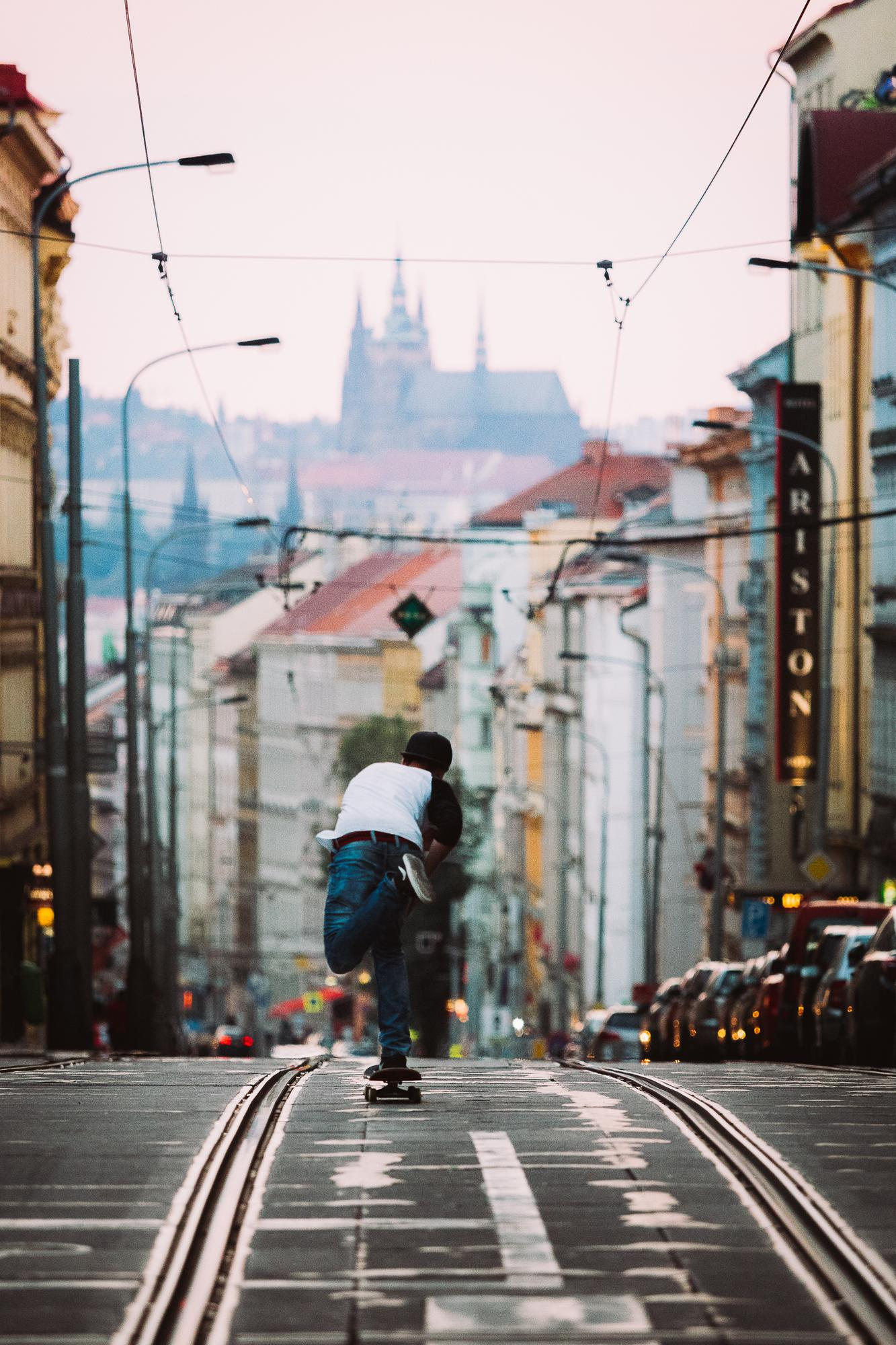 Streets of Prague city